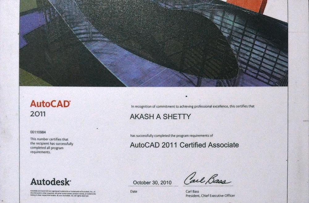 AutoCAD 2011 Certified Associate